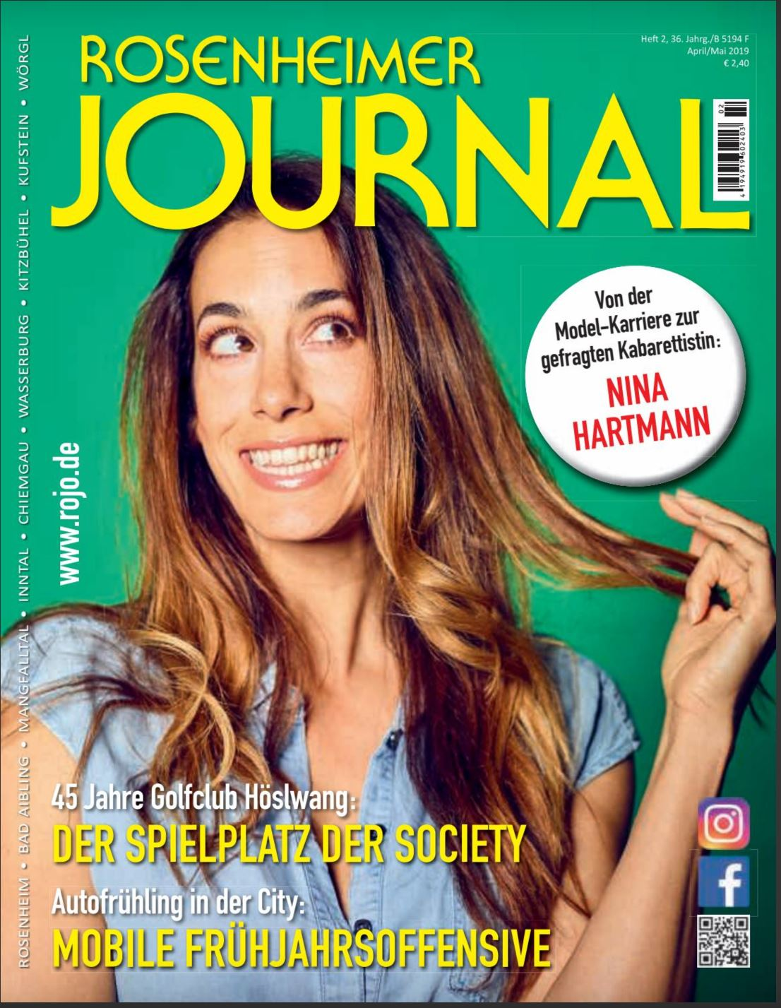 Rosenheimer Journal Titelseite April-Mai 2019